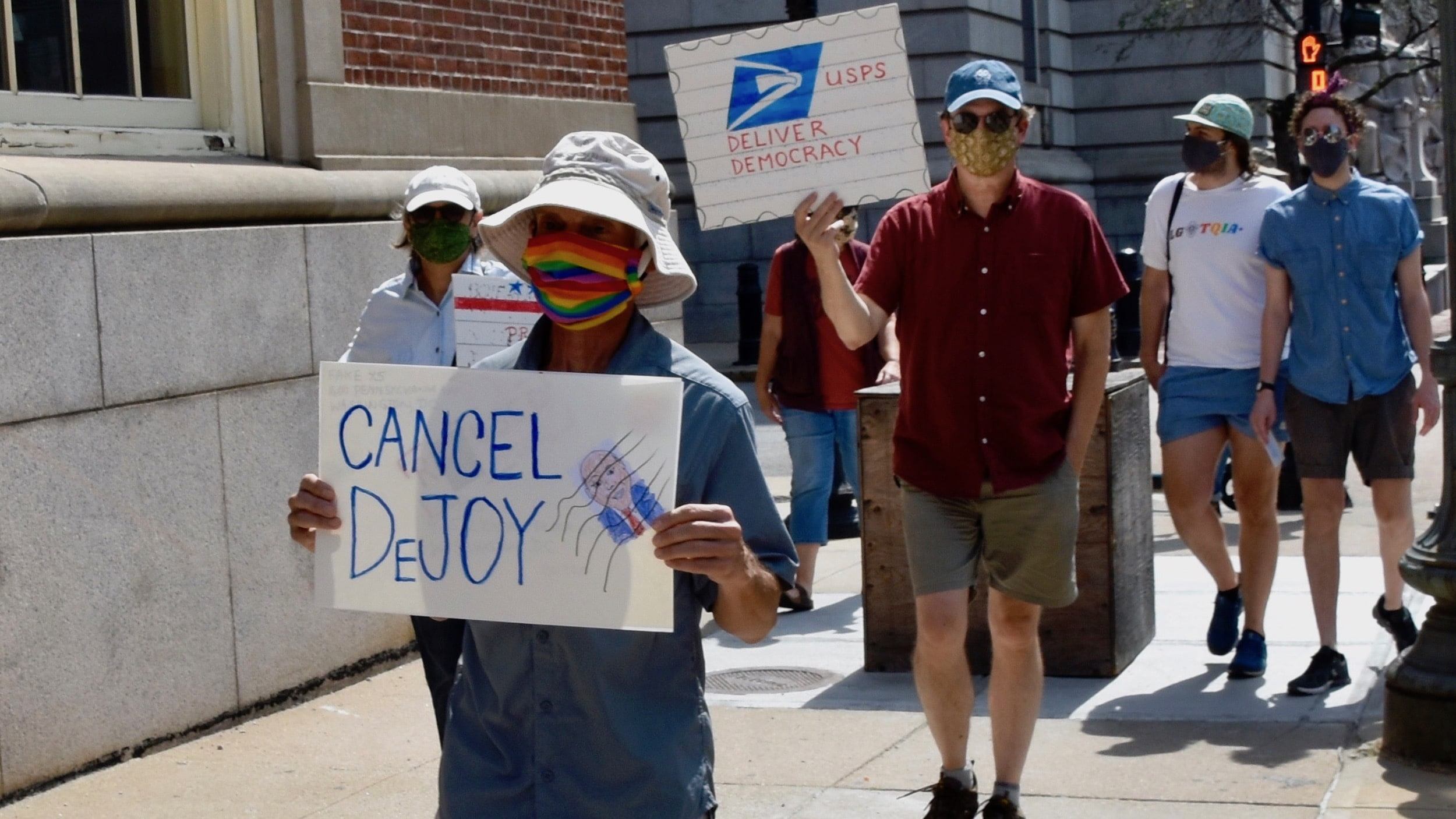 Photo for Providence protest to support the Post Office part of a nation-wide effort