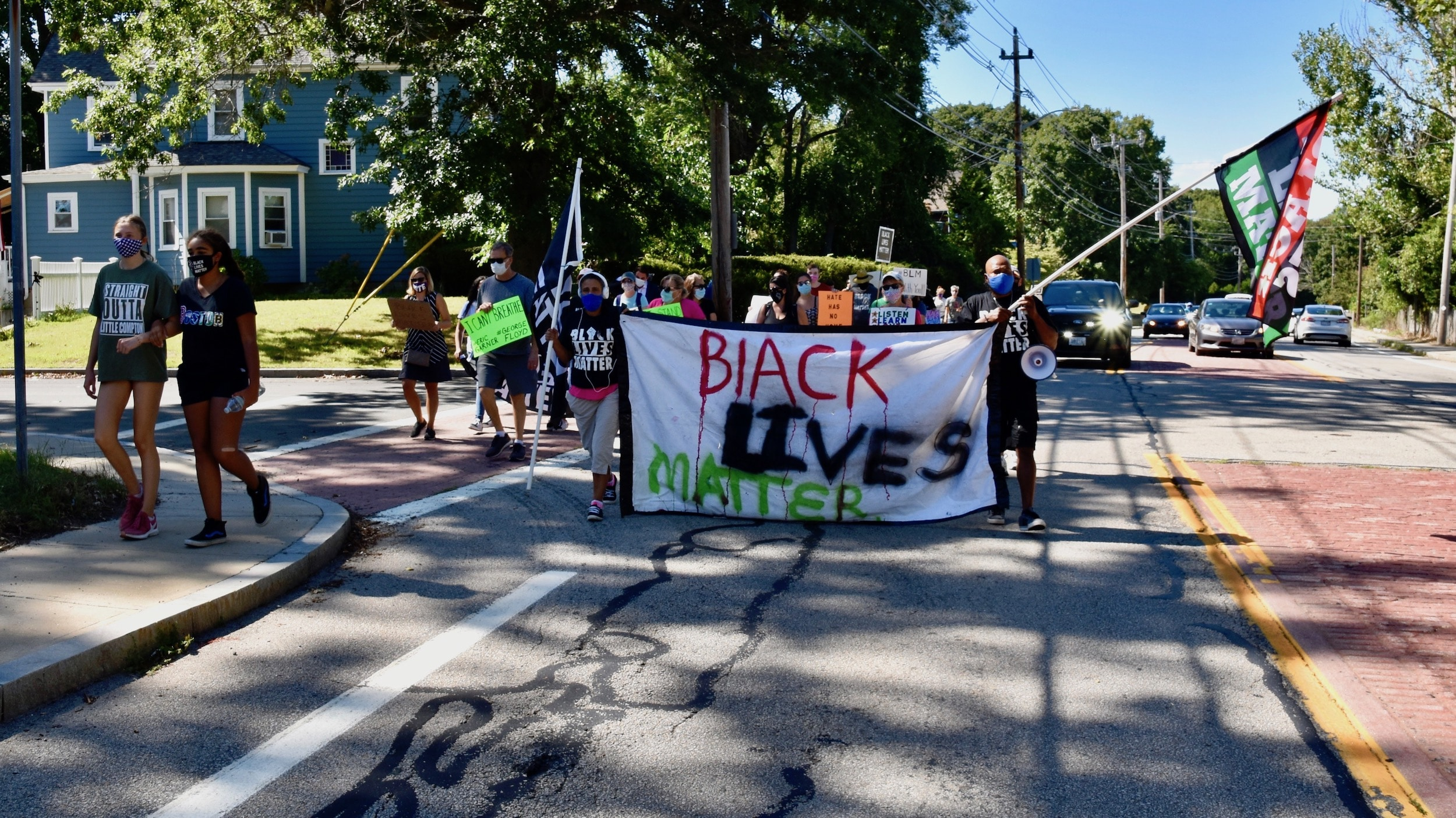 Photo for The rally for Black lives gets loud in Barrington