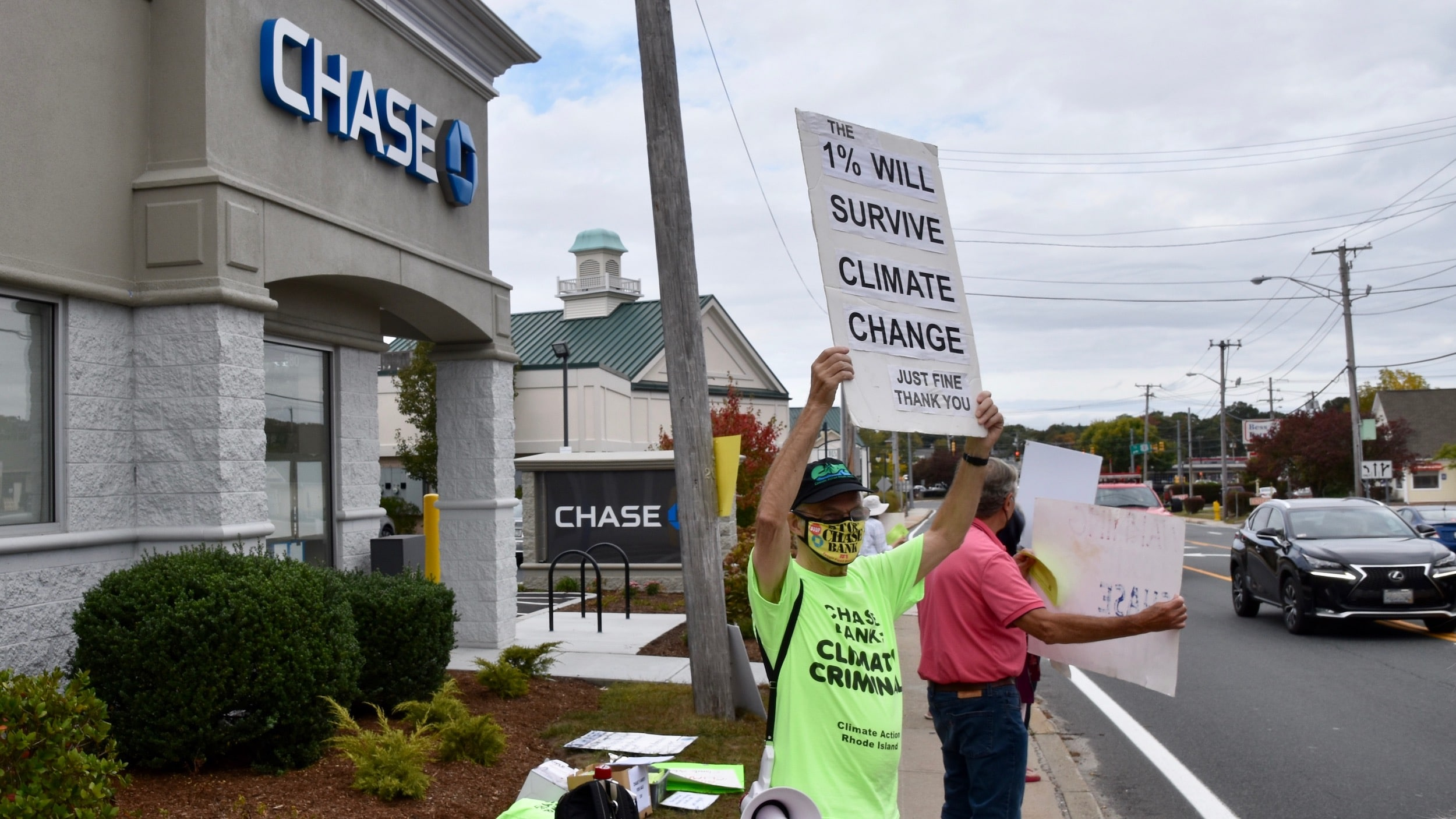 Photo for Saying no to 'climate criminal' Chase Bank in Wakefield