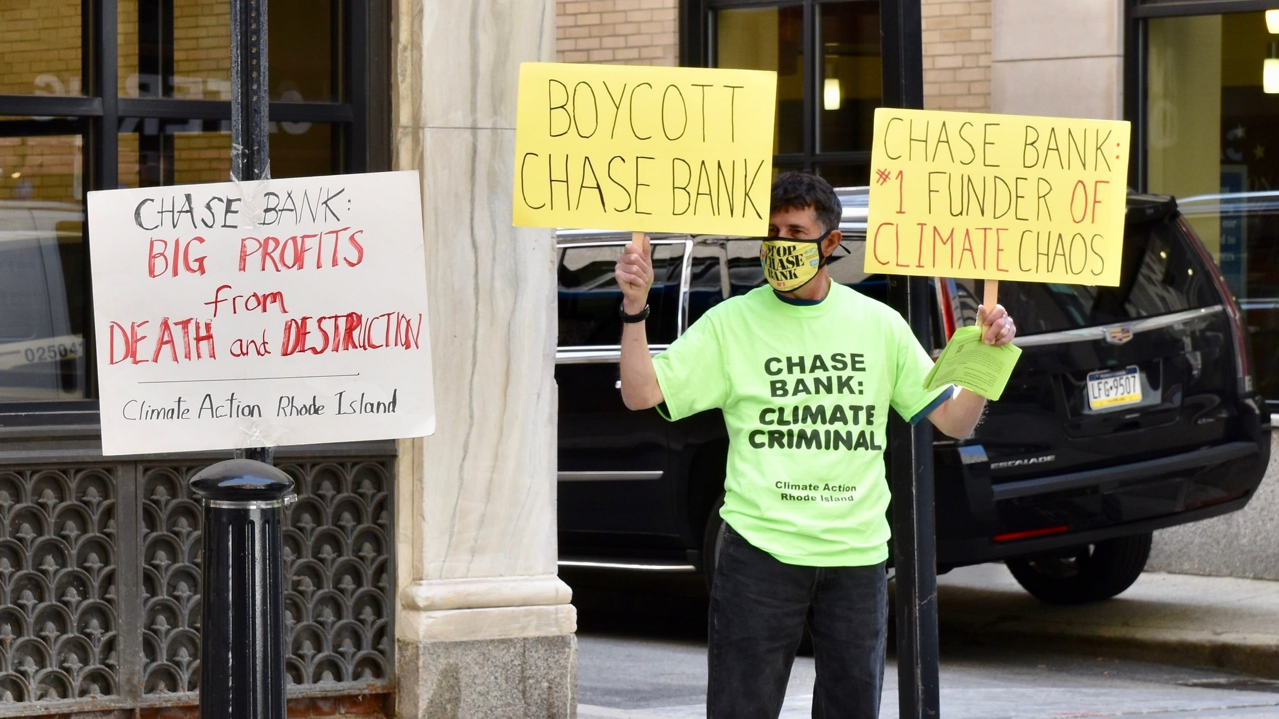 Photo for Chase Bank is working to flood their own downtown bank branch…