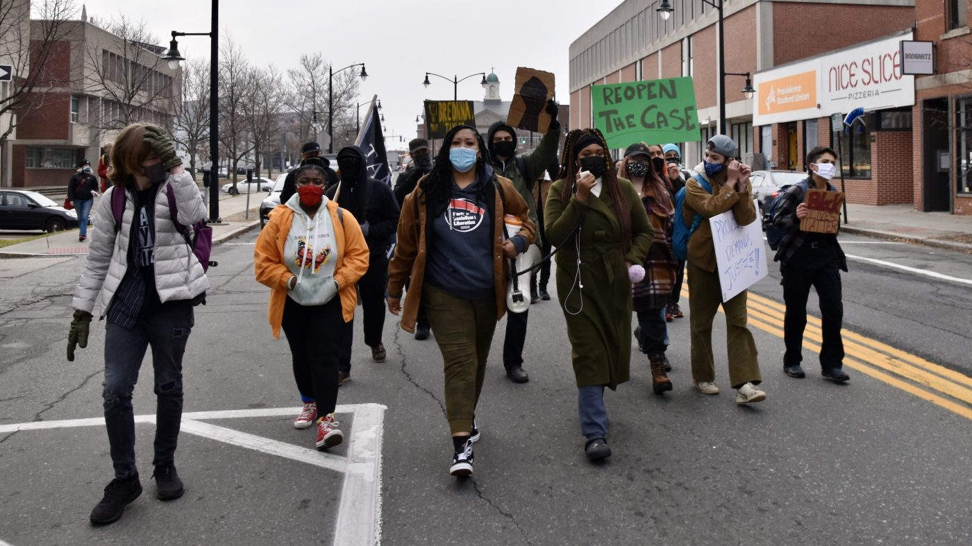 Activists march on PVD Public Safety Complex demanding Justice for Jhamal
