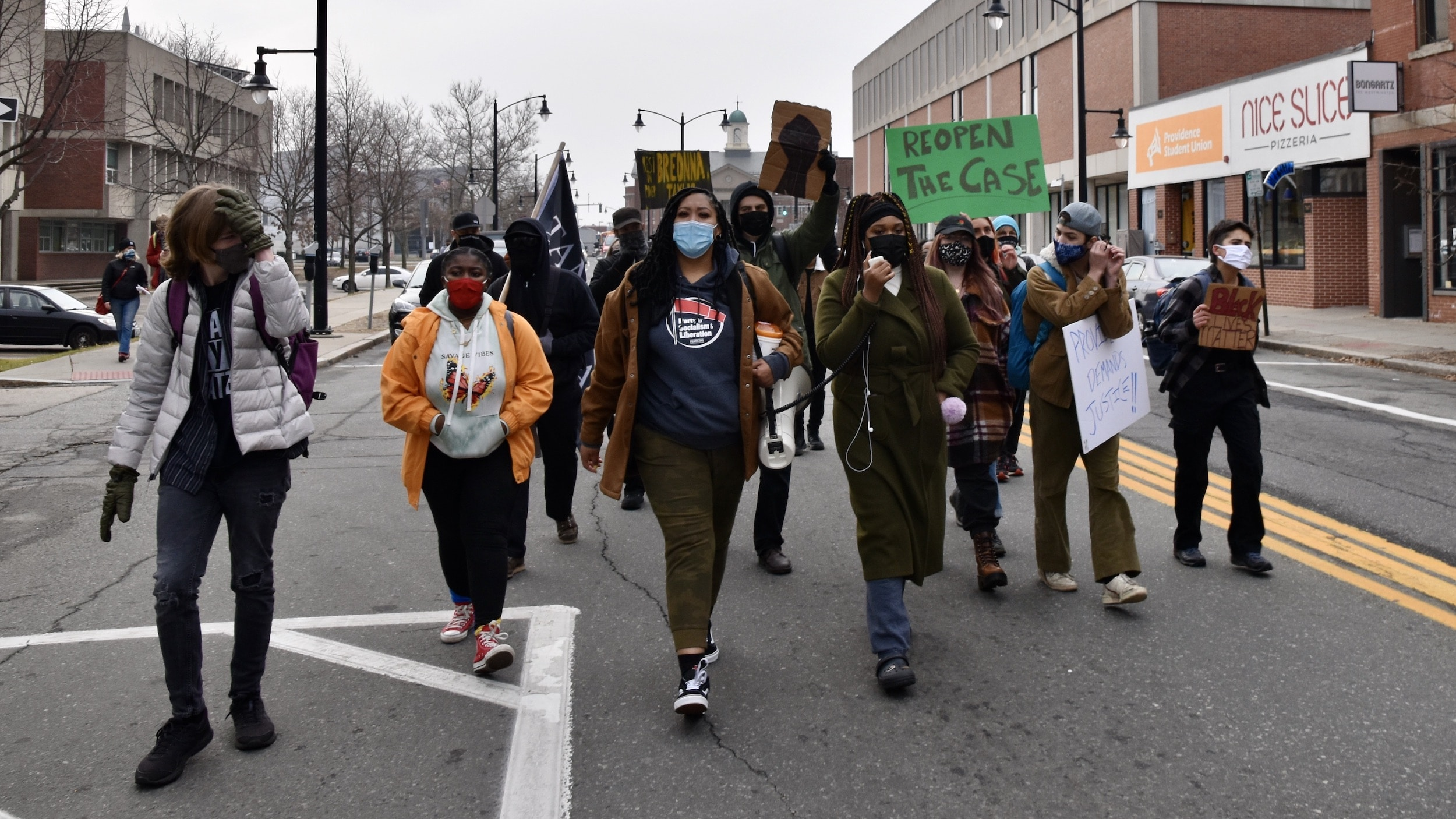 Photo for Activists march on PVD Public Safety Complex demanding Justice for Jhamal