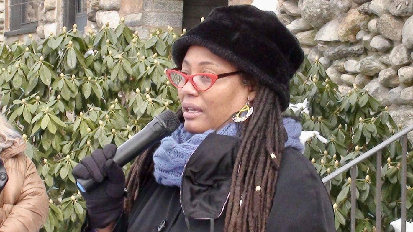 Barrington and Black Lives Matter rally to support Candace Breen
