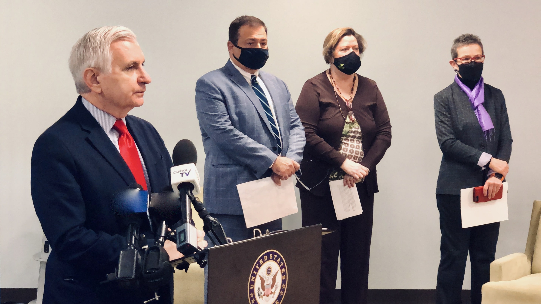 Photo for Senator Reed, Speaker Shekarchi announce housing assistance money for Rhode Island