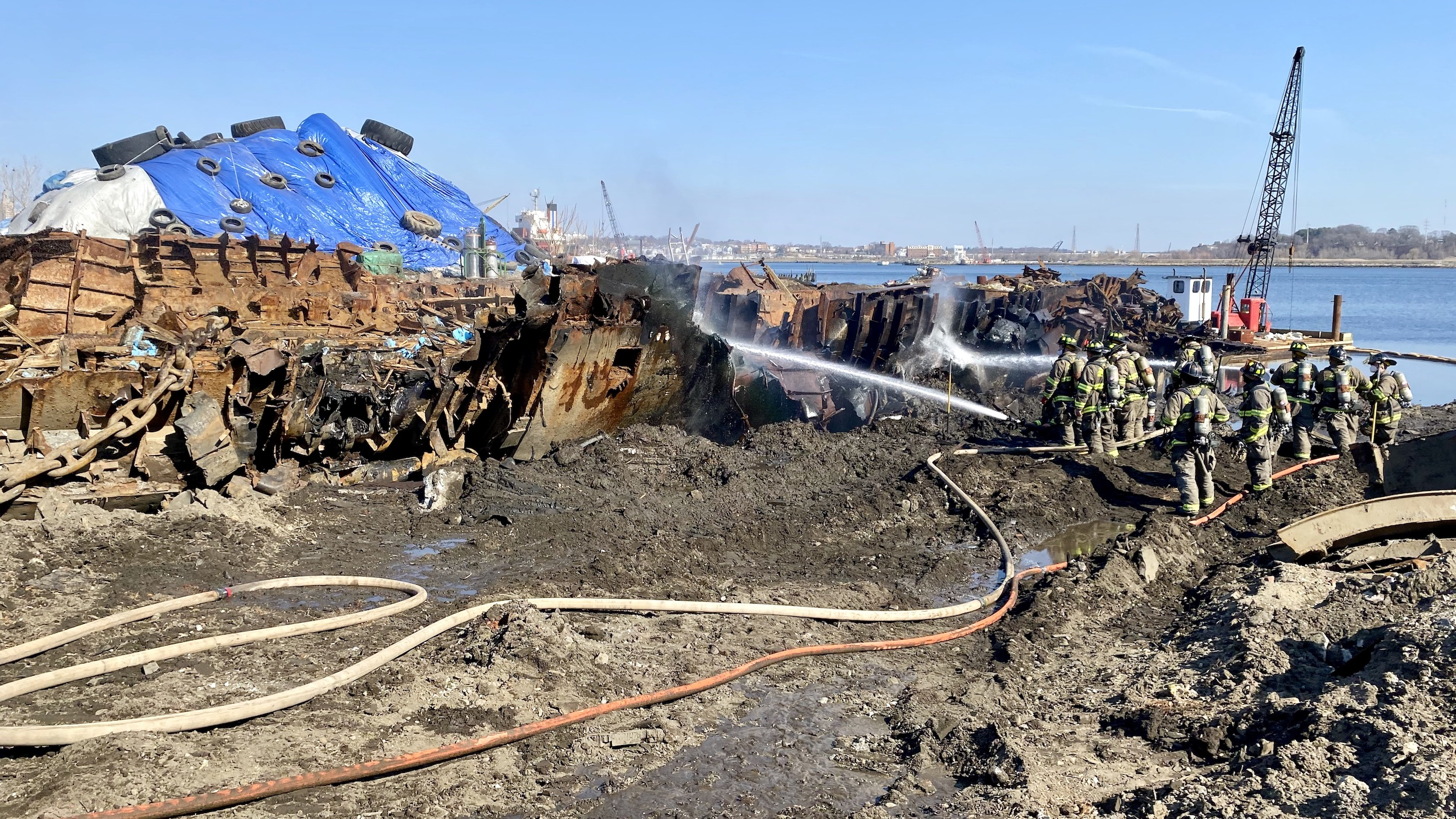 Photo for Submarine fire is the latest environmental outrage suffered by residents of the Port
