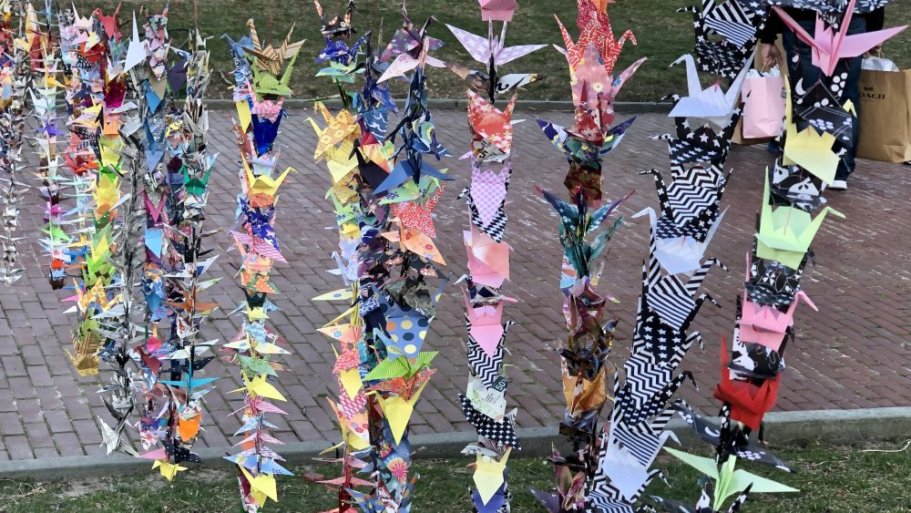 1000 Paper Cranes Project: Asian Visibility rally and vigil at the State House