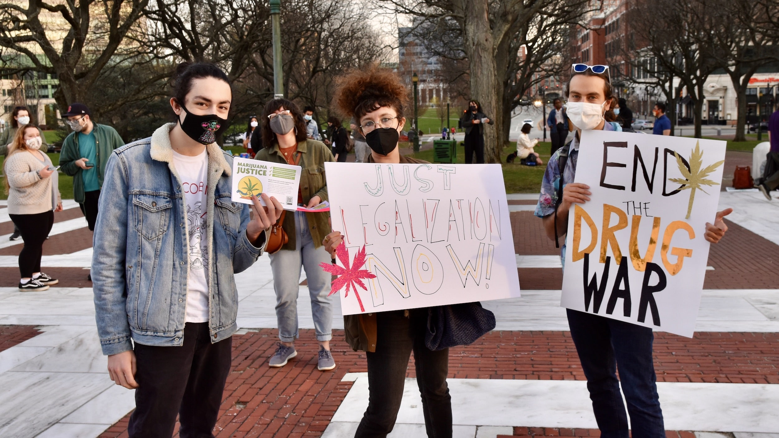 Photo for Reclaim RI's 420 rally for racial and economic justice in cannabis legalization law