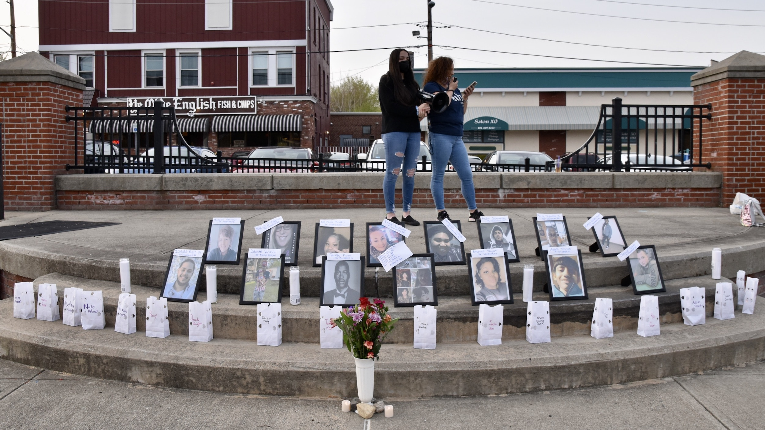 Photo for Youth led Village Vigil in Woonsocket urges peace, pleads for help