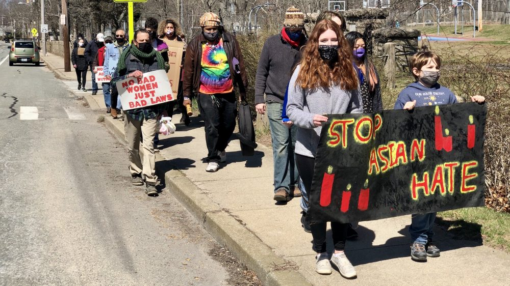 Youth organize a Stop Asian Hate March in South Kingstown