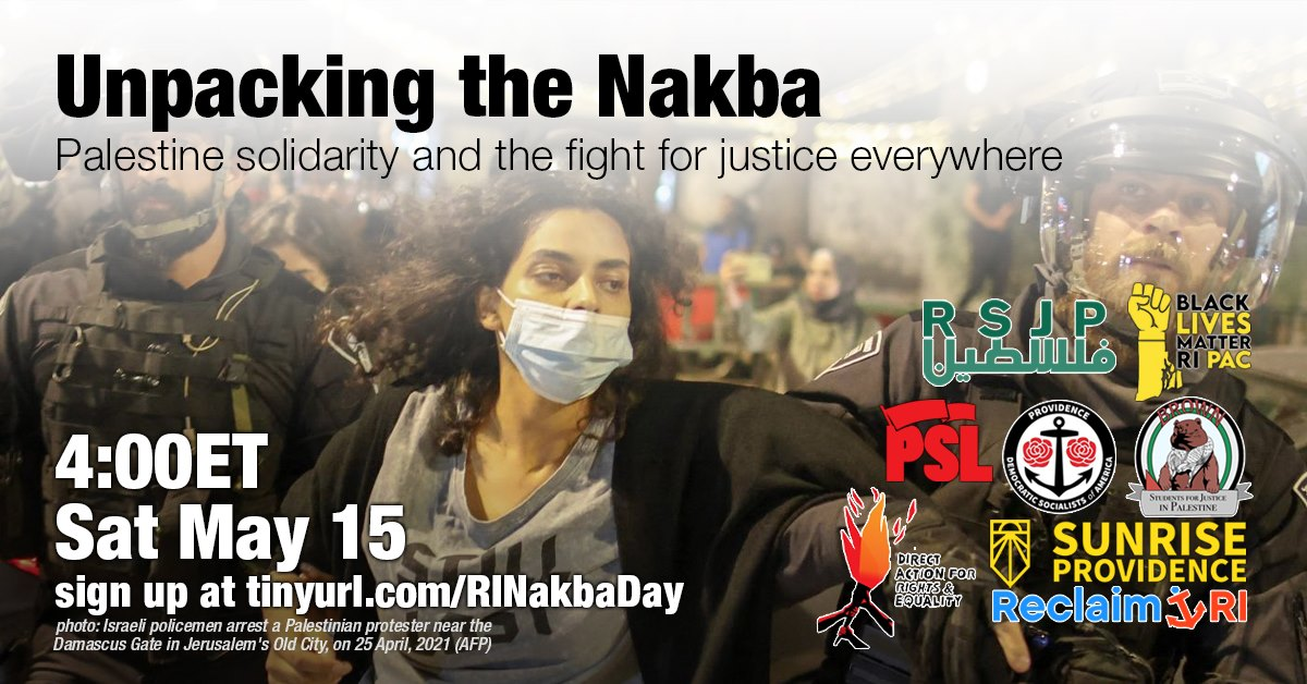 Photo for Brittany Palumbo and Joel Reinstein: It's time to talk about the Palestinian Nakba in RI