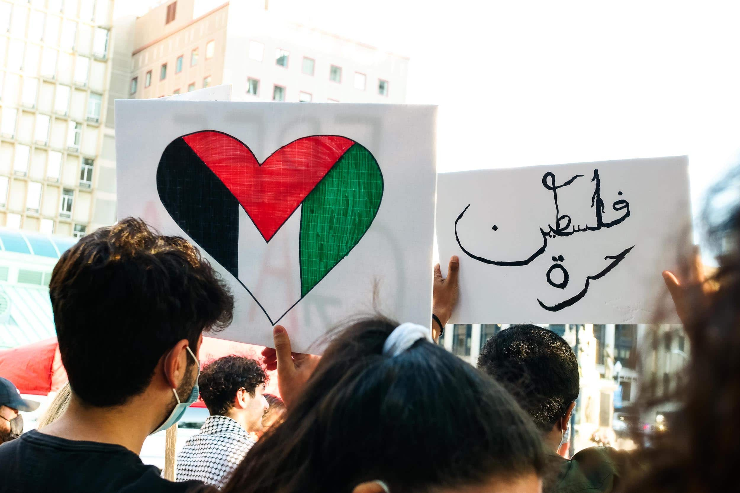 Photo for Selene Means: Photos from the Free Palestine rally in Providence