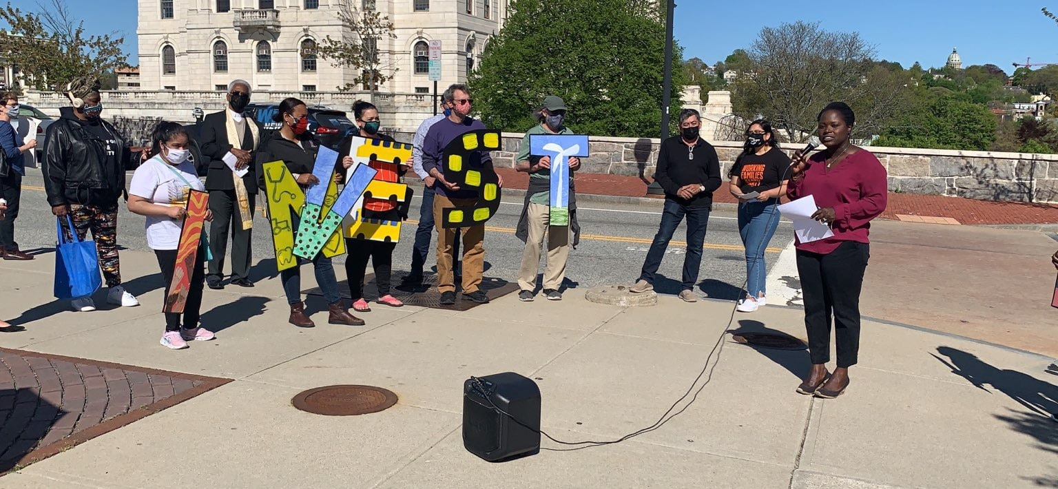 Photo for Activists call on RI House to raise taxes on the one percent