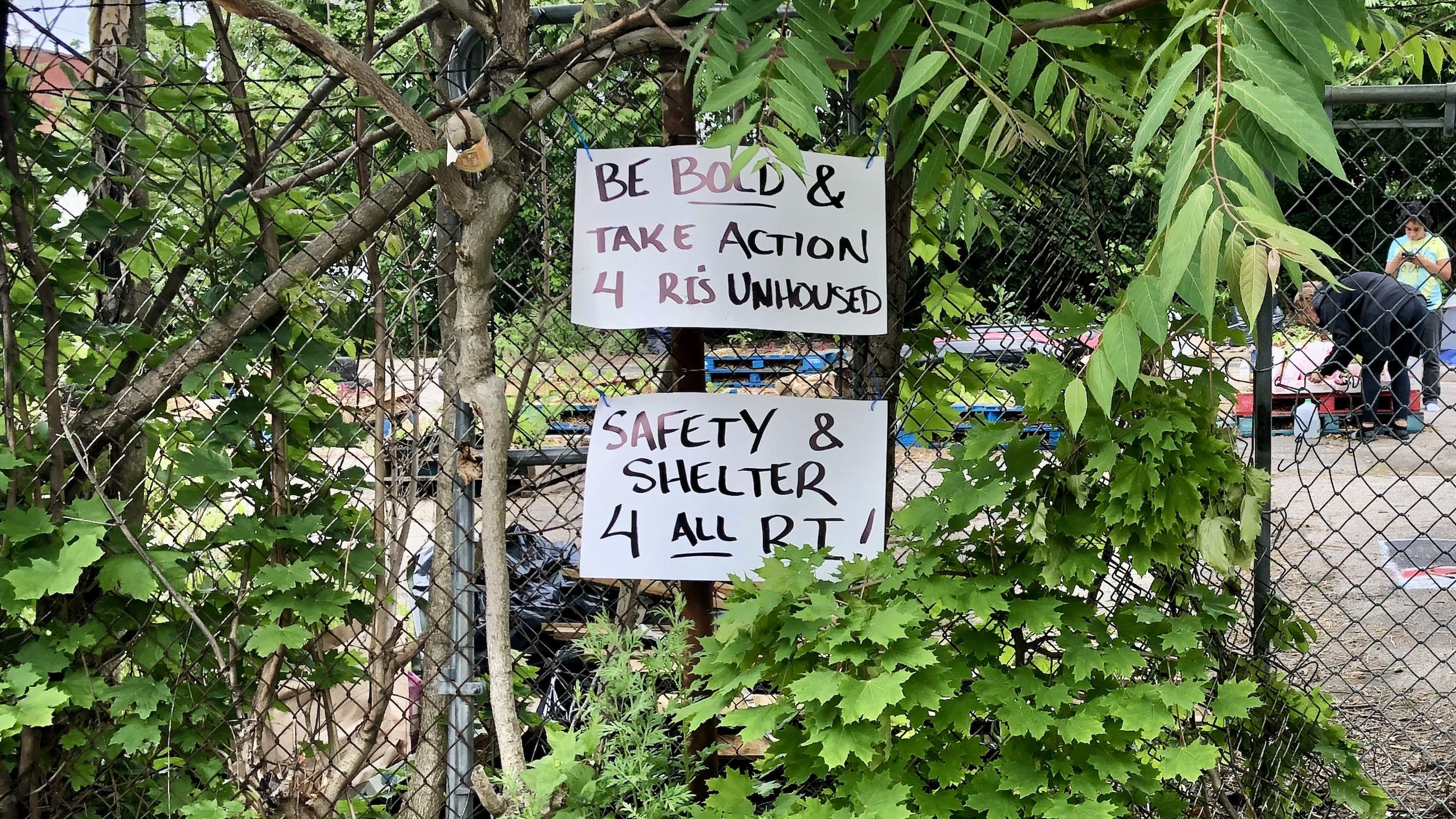 """Photo for ACLU: Providence Police acted on """"dubious"""" grounds in attempt to oust unhoused encampment"""