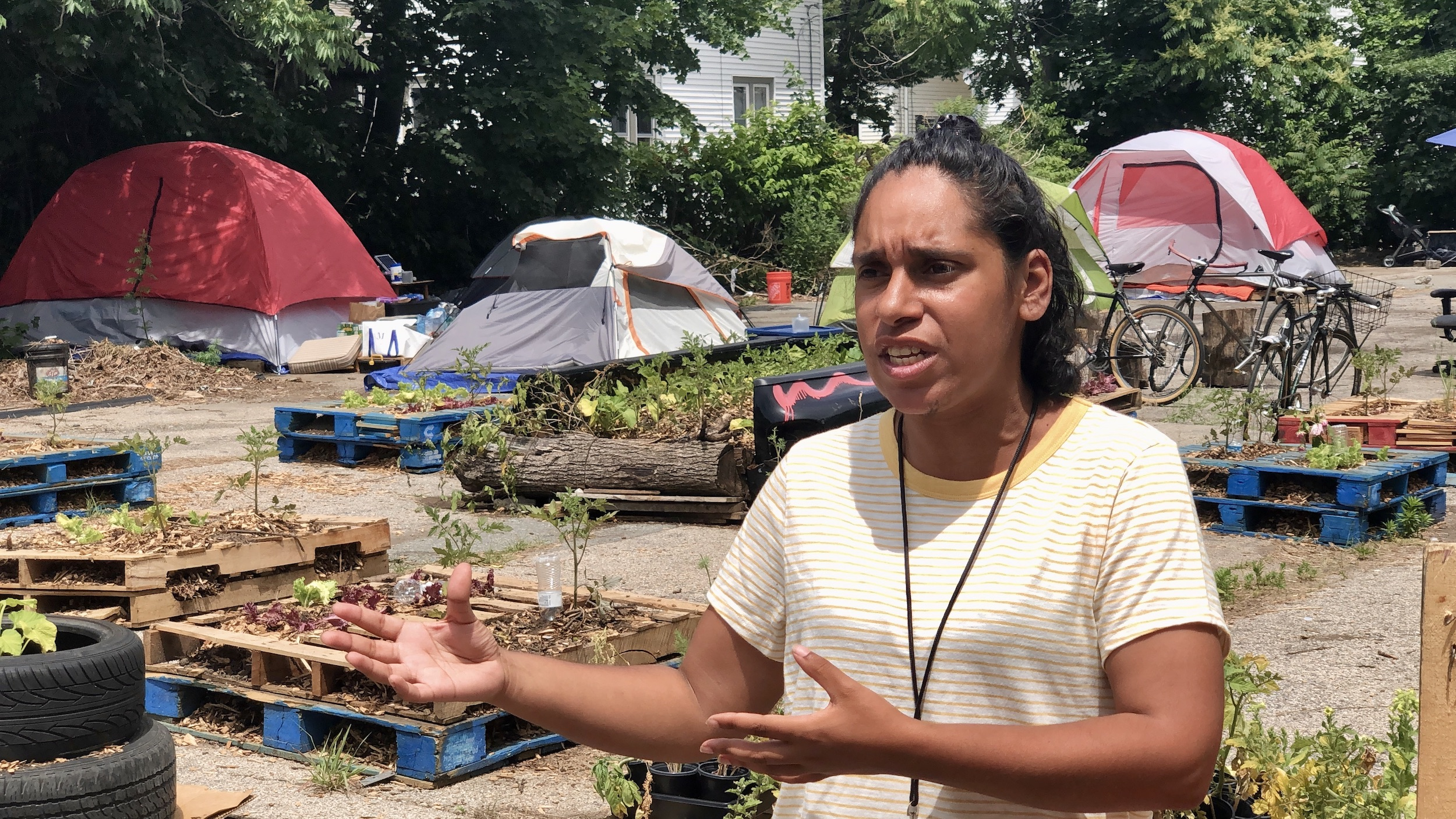 Photo for Given 48 hours to vacate, unhoused encampment in PVD holds press conference