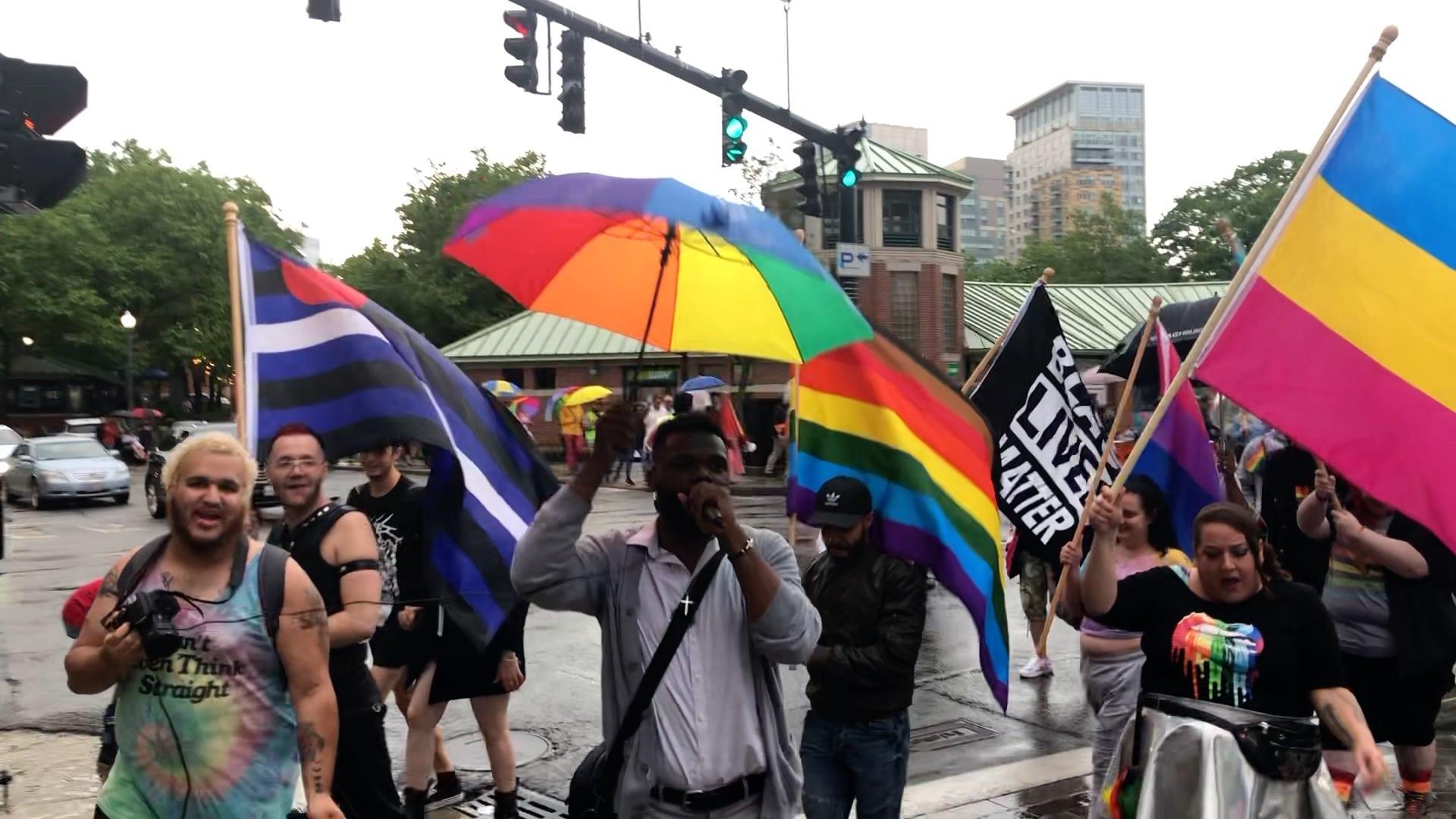 Photo for Providence Pride Flag raising was no small celebration