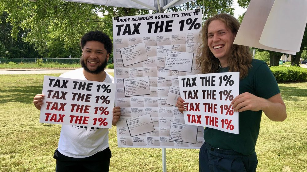 Advocates press Speaker Shekarchi to increase taxes on the one percent