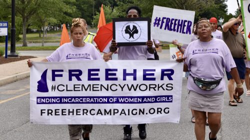Clemency tour comes to Rhode Island with march on women's prison in Cranston