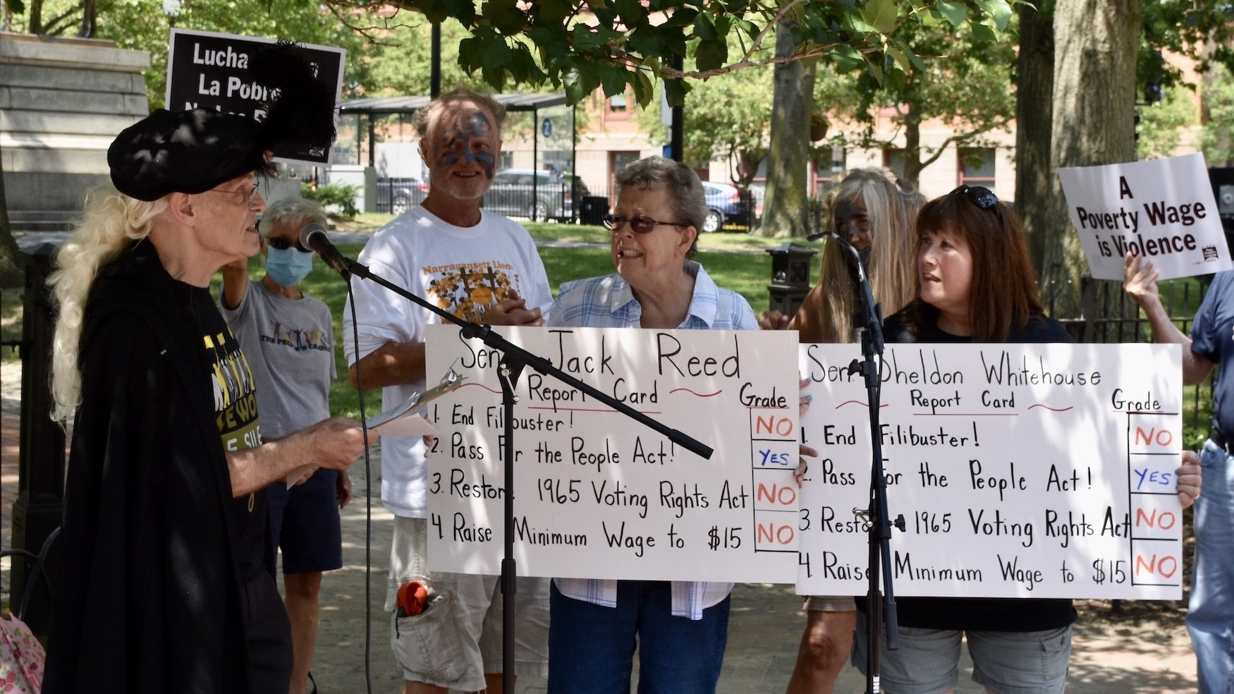 Photo for RI Poor People's Campaign demands support from Senators Reed and Whitehouse