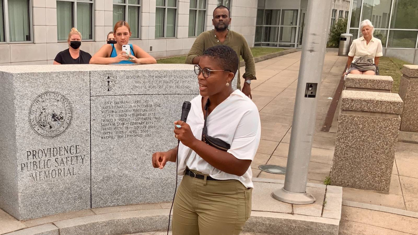 BLM RI PAC rallies against LEOBoR in the wake of police videos showing violent arrests