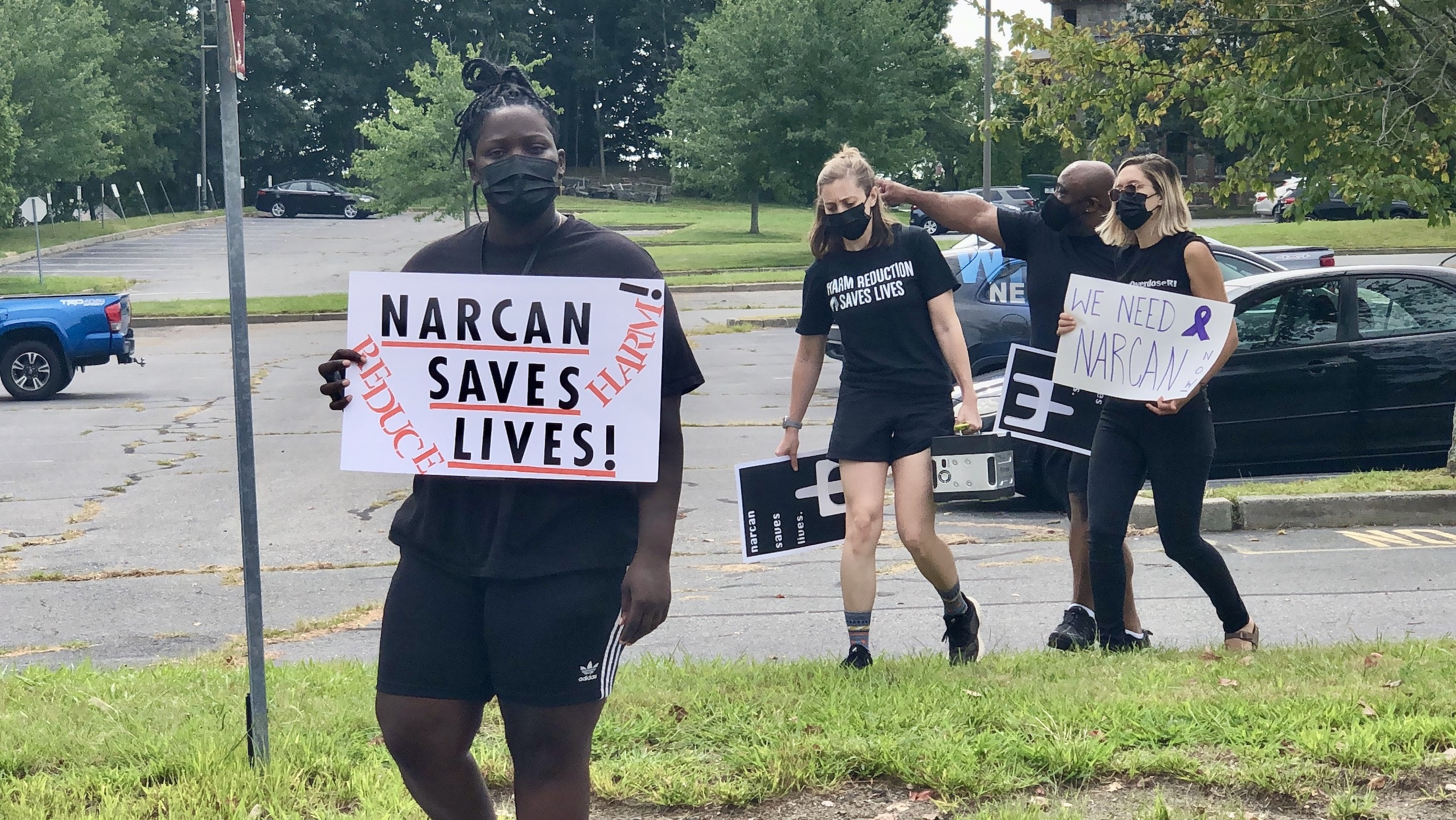 Photo for Advocates rally, stage 'die-in' for dedicated narcan funding stream