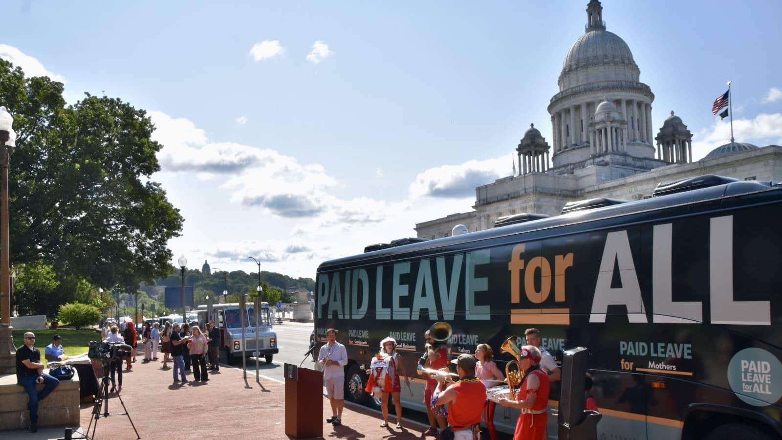 Paid Leave for All National Bus Tour kicks off from Rhode Island